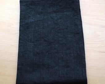 Linen Dish Towel Black Kitchen Towel Guest Towel Tea Towel Hand Towel