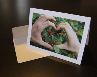 Heart & Holly Holiday Greeting Card (10-pack)