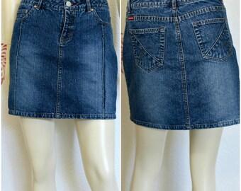 Vintage Jean Skirt | 90s Skirt | Denim Skirt | Unionbay Jeans | Womens Denim Skirts  | Denim Mini Skirt | Jean Mini Skirt | Short Jean Skirt