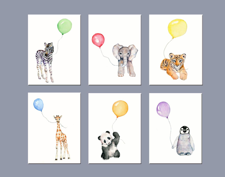 Dinosaur Bedroom Set Nursery Art Animals Nursery Wall Decor Zoo Animal Nursery