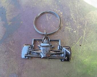 Vintage Silvertone Number 8 Race Car Driver Key Chain-Dale Earnhardt