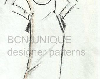 TREKY top or dress pattern for regular sizes.-