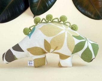 Dog Toy / Squeaky / Dinosaur Toy / Stuffed Dog Toy / Dino Toy / Modern Dog / Pom Pom Animal / Gifts For Dogs / Dog Gifts - The Schefflera