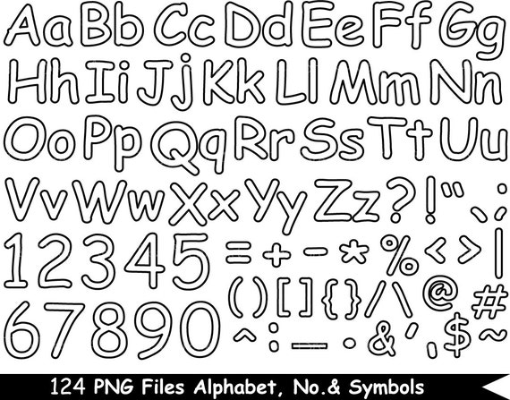 124 png files outline alphabet numbers symbols digital thecheapjerseys Choice Image