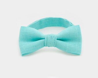 Mint Bowtie Wedding Bow Ties Boy Bow Tie And Pocket Square Father Son Set