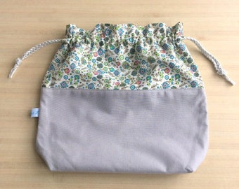 Very pretty cotton or outstanding knitting or crochet bag pouch