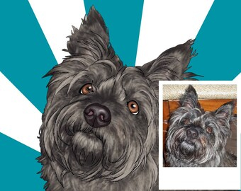 Custom Pop Art Pet Portrait / pop art dog portrait / custom dog portrait / pop art cat portrait / custom pet pop art
