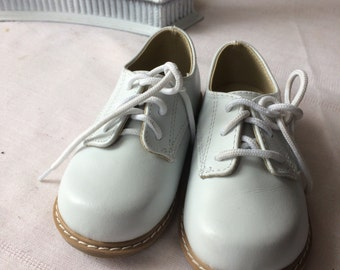 Cute Little White Oxford Infants Shoes