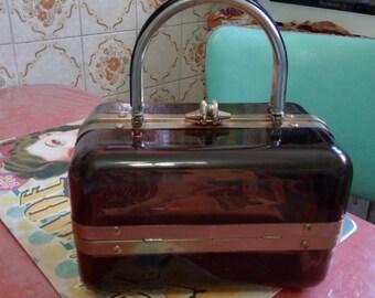original bag shaped box 1960's / 70 of Brown plastic