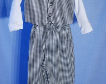 Boy's Houndstooth Suit Set - 12 month size Brand New
