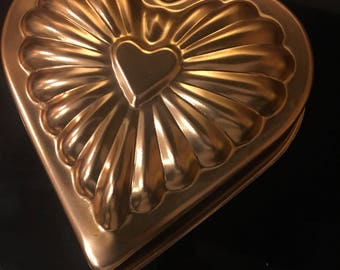 Copper Heart Jello Mold