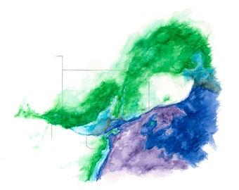 Atmospheric Boundaries Watercolor