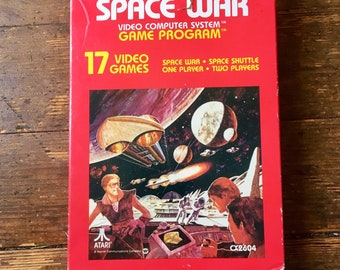 1978 Space War; ROM Video Game Cartridge, Atari 2600.  With Instructions and box. Atari Inc.