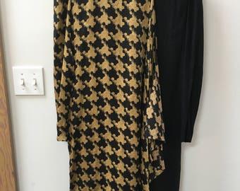 Vintage dress // 80s/90s // gold and black