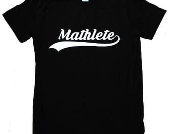 Mathlete Mens T-Shirt - Math Nerd Sizes S, M, L, XL