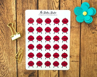 BBQ Planner Stickers - Barbecue Grill Stickers fits Erin Condren planner