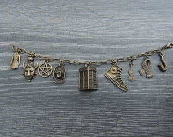 SuperWhoLock Charm Bracelet