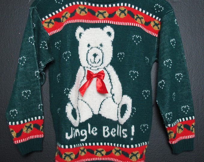 Novelty Ugly Christmas Sweater 1990's vintage Sweater