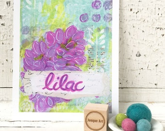 Lilac Mixed Media Art Print - 2 sizes available