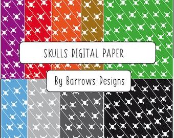 Skulls Digital Paper