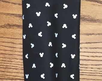 Black and White Mickey Mouse Head  Grocery Bag Holder- Plastic Bag Holder-