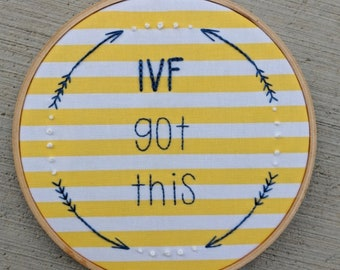 """IVF got this yellow stripes 6"""" hoop"""