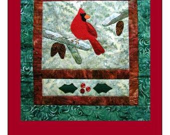 Six Piece Cardinal Christmas Card Set & Envelopes