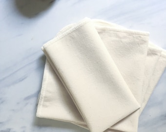 Organic Cotton Muslin Washcloth, Available in Two Sizes