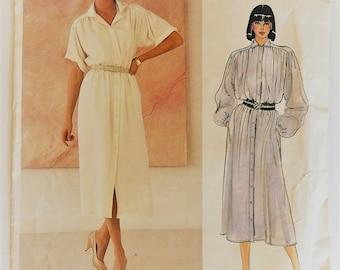 Vintage 1980's Vogue American Designer sewing pattern 1126 - John Anthony - Misses' dress