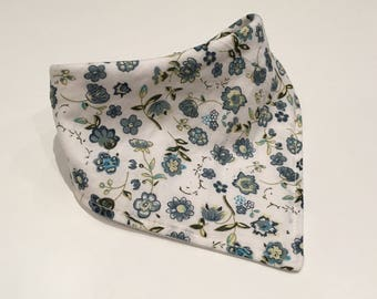 Pretty In Blue Bandana Bib