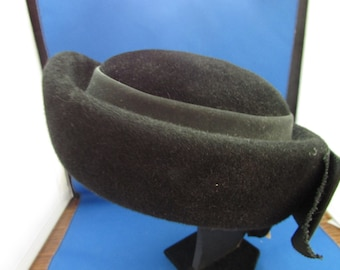 Cheri Gael Black Velour Hat