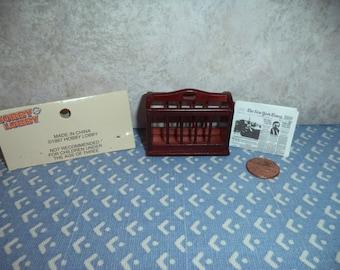1:12 scale Dollhouse Miniature Vintage magazine/newpaper rack