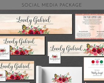 Social Media Package With Custom Logo Design Branding And Identity Business Card Design Package UNLIMITED REVISIONS Vector File