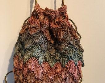 Handmade hemp bag.