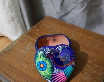 Small Talavera Jewelry box// Small Trinket box