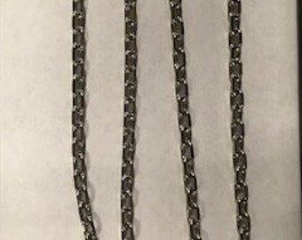 4FT Large Silver Plated Cable Chain, 8x5mm links