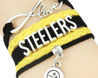 Pittsburgh Steelers Adjustable Wrap Bracelet