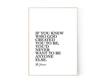 Bill Johnson Quote, Printable, Wall Art, A4, Bethel, Christian, Print, Graphic Design Poster