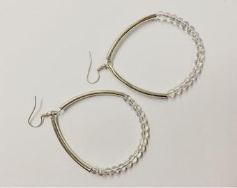opal loop earrings