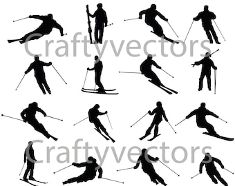 Skiing vector file