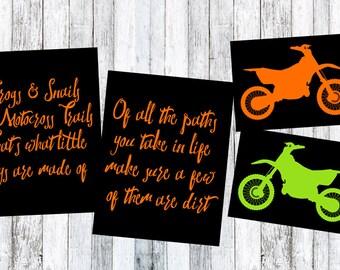 Baby Toddler Dirtbike Prints Set of 4 MX