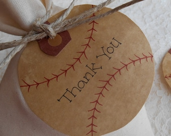 100 BASEBALLS Tattered Worn Vintage Appearance Gift Card Tags Rustic