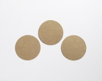 "Kraft Circle Die Cuts - 1-3"" Inch Choose Your Color/Colors Diecuts Scrapbooking Basic Shape Circles Round Cutouts Cards Decoration Cute"