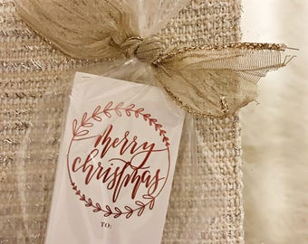 12 metallic christmas tag   christmas tags   christmas   merry christmas   gift tags   red foil