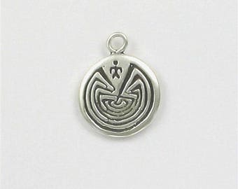 Sterling Silver Man In a Maze Charm