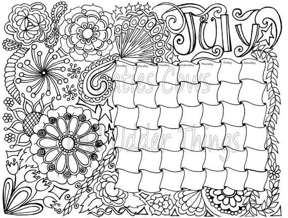 coloring calendars sector pages - photo#25