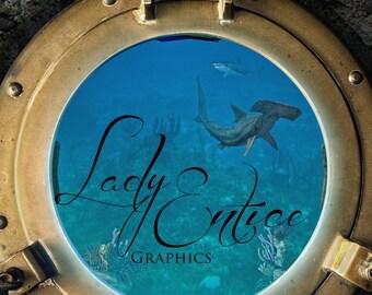 Under Water Scene | Digital Backdrop | Background | Ocean | Sea Life