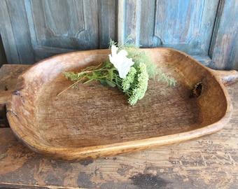 M 20: antique handcarved WOODEN BUTTER BOWL cottonwood