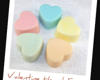 Mini Valentine Heart Soap Set, Heart Soaps, Valentine Soap Favor, Valentine Gift, Heart Soaps, Heart Party Favor, Heart Gift, Teacher Soap