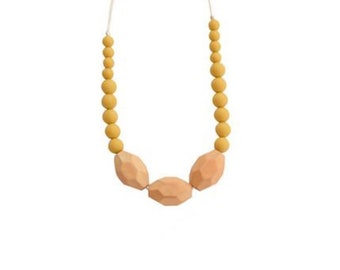 Silicone + Wood Teething Necklace | The Austin Mustard